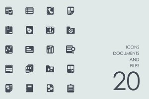 Documents and files icons