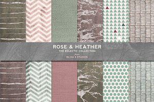 Rose & Heather Silvered Watercolors