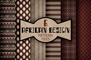 African Textile Design Pattern Tiles