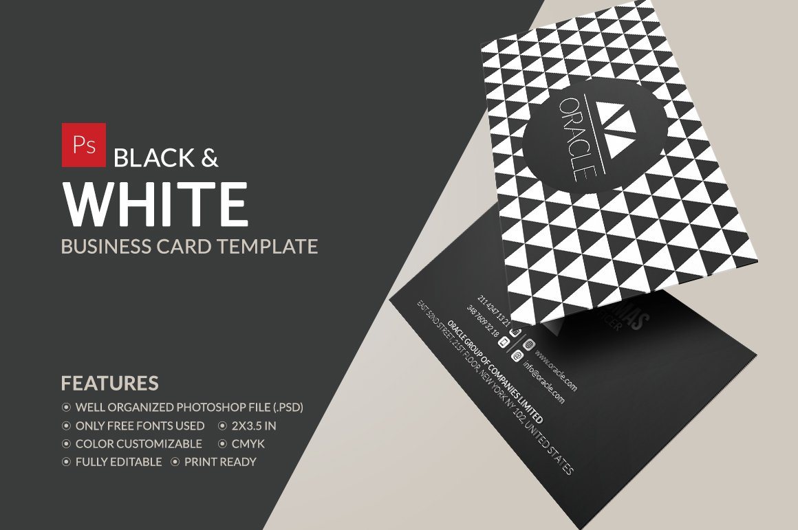 Black and white business card business card templates creative black and white business card business card templates creative market friedricerecipe Gallery