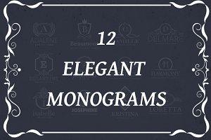 12 Elegant Monograms
