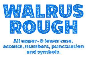 Walrus Rough font