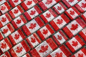 Canada Flag Urban Grunge Pattern