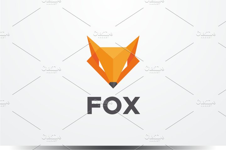 Diamond Fox Logo Templates Creative Market