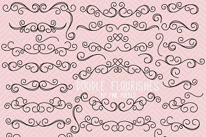 Doodle Flourishes and Swirls