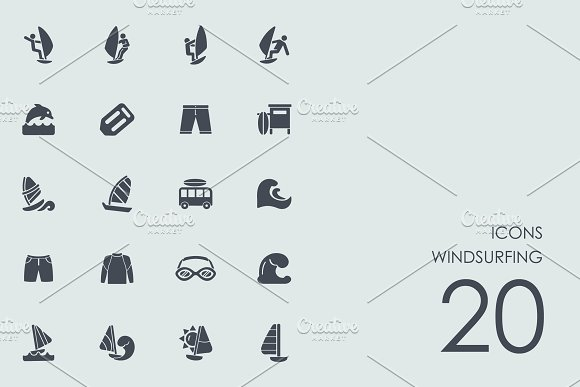 Windsurfing  icons