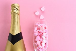 Champagne and Candy Hearts