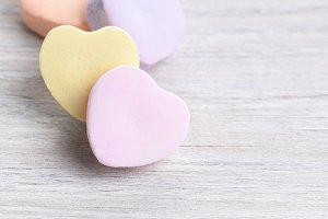 Four Candy Hearts