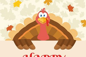 Turkey Bird Happy Thanksgiving Sign