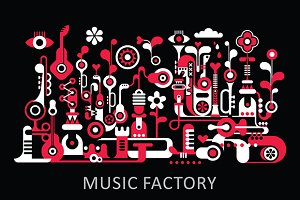Music Factory abstract design