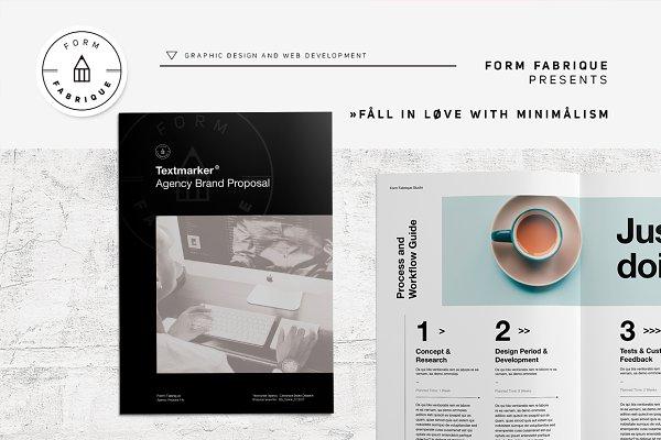 Brochure Templates Creative Market – Marketing Brochure Template
