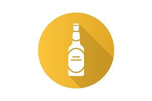 Beer bottle icon. Vector