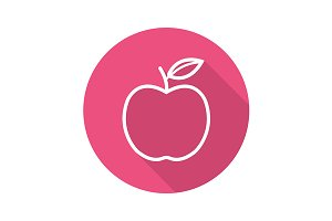 Apple icon. Vector