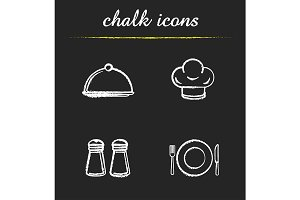 Restaurant kitchen items. Vector