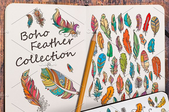 Fancy Boho Feathers Collection