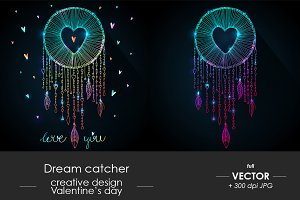 Dream catcher with heart