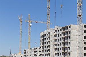 New construction building tenement apartment house