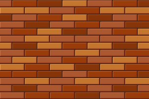 Seamless Old Brick Wall Pattern Set