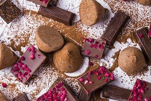 Different varieties of chocolate