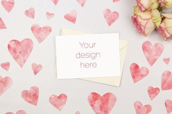 Valentine S Day Card Mockup Psd Product Mockups Creative Market