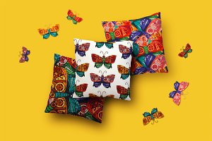 Steampunk Butterfly Patterns Set
