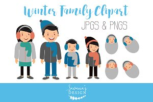 Cute Family Digital Clipart