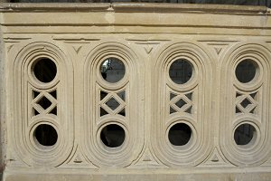 Carved stone balustrade