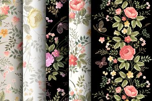 vector patterns with roses
