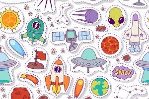 Astronomy solar system pattern