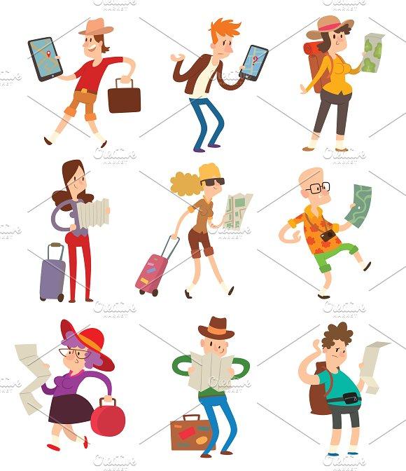 Traveler people vector