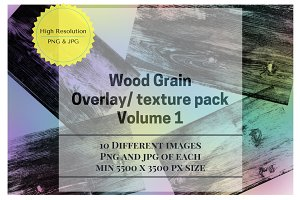 Wood Grain Overlay / Texture Pack 1