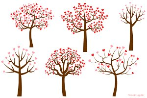 Trees with heart shaped leaves