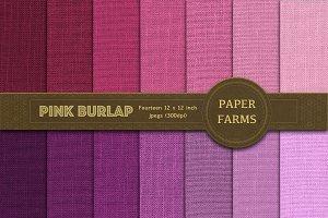Pink burlap digital paper