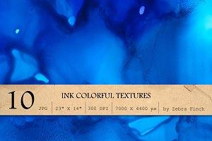 10 Blue Paint textures