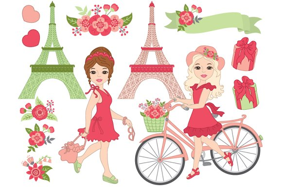 Vector Paris Set