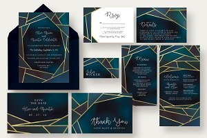 Chic Geometric Wedding Suite