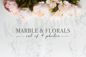 Styled Stock Marble + Flowers