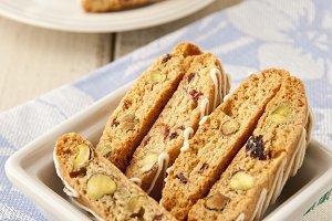 Biscotti with pistachio