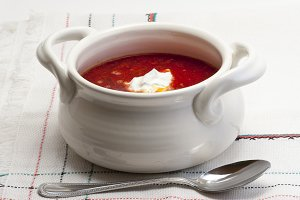 Borsch  - beetroot and cabbage Soup