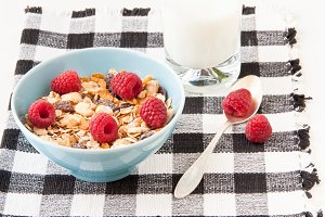 Bowl of healthy muesli