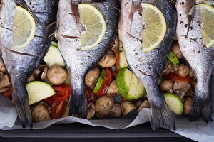 bream with lemon