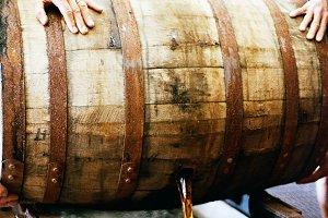 Emptying Bourbon Barrel