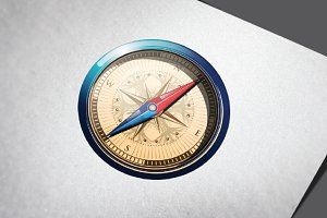 Realistic 3D Compass Luxury
