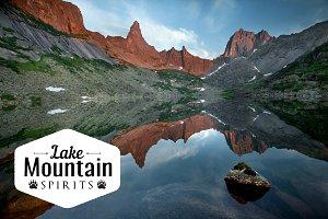 Beautiful landscape mountain lake