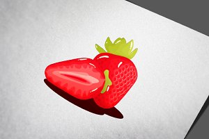 Strawberry Fruit Realistic Vector