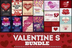 Valentines Day Flyer Cards BG Bundle