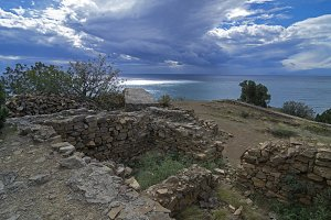 The ruins of the ancient fortress.