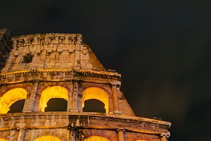 Coliseum at night in Rome