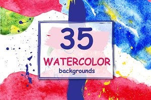 35 watercolor backgrounds.