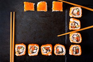 Japanese food - sushi, rolls
